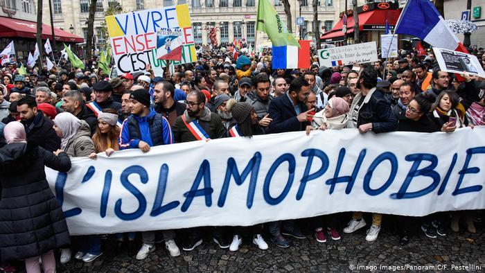 ইসলামবিদ্বেষের প্রতিবাদে ফ্রান্সে বিক্ষোভ সমাবেশ