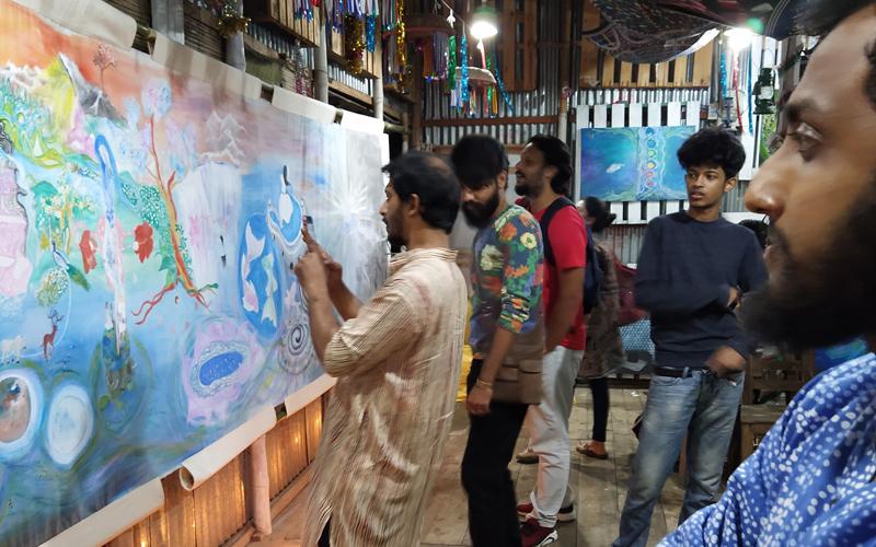 পূর্বাচলের দর্জি-বাড়িতে চলছে দেশের প্রথম সুফি শিল্প প্রদর্শনী 'ফানা-ফি-আল্লাহ'